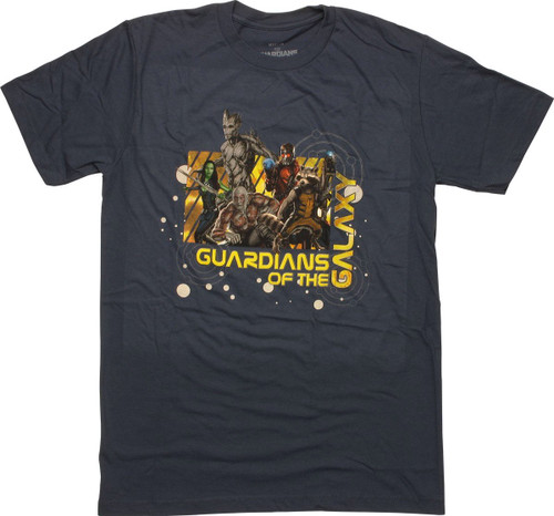 Guardians of the Galaxy Group Name T Shirt Sheer