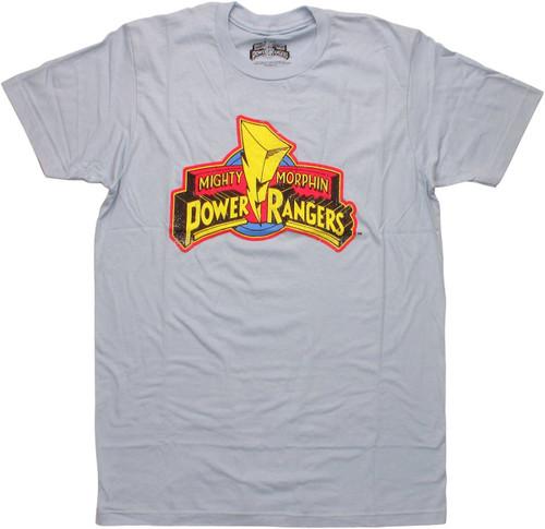 Power Rangers Vintage Logo T Shirt Sheer