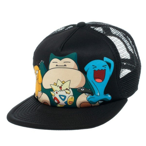 Pokemon Snorlax Group Sublimated Trucker Hat