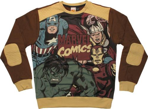 Avengers Group Sublimated Overlay Sweatshirt