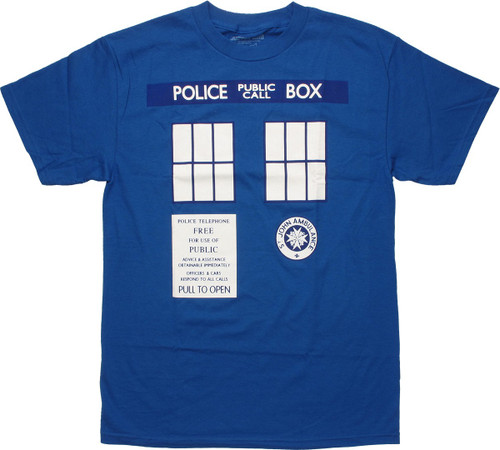 Doctor Who TARDIS Trompe T Shirt