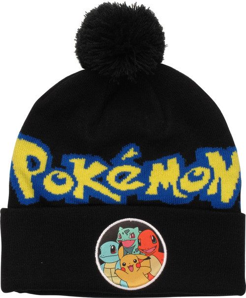 Pokemon Group Circle Cuffed Pom Beanie