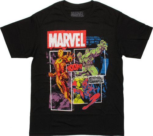 Avengers Boxed Trio Marvel T Shirt Sheer