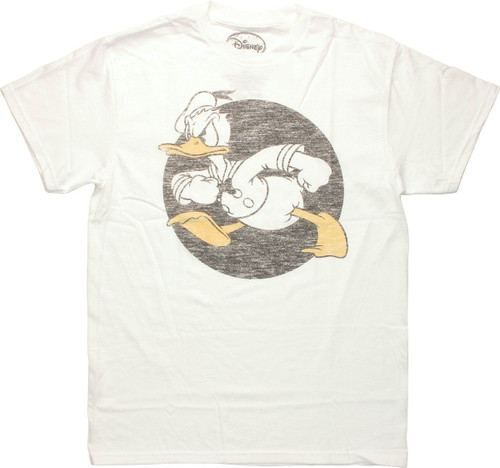 Donald Duck Vintage Circle T Shirt Sheer