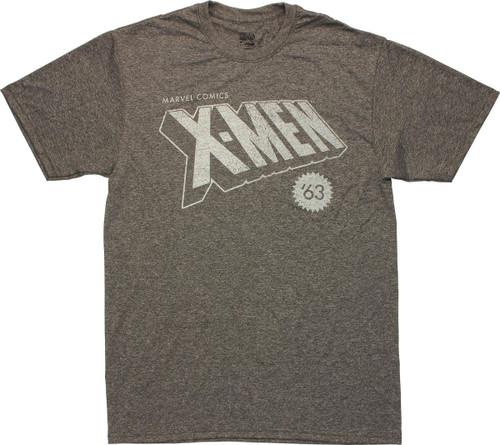 X Men Vintage 63 Logo T Shirt Sheer