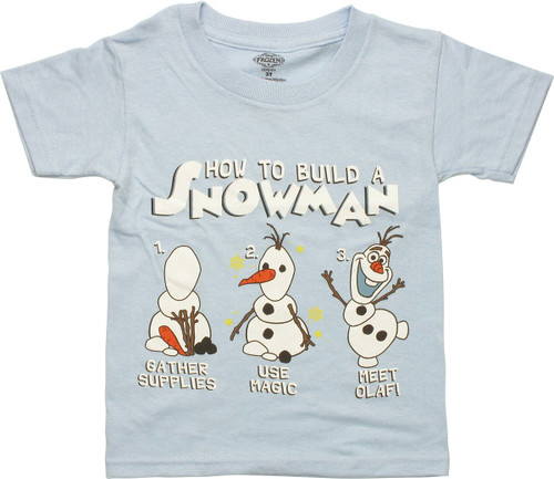 Frozen Olaf How to Build a Snowman Toddler T Shirt