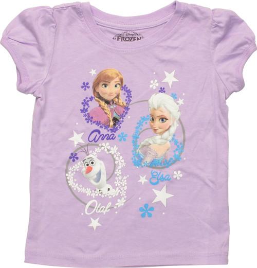 Frozen Trio Swirls Toddler T Shirt