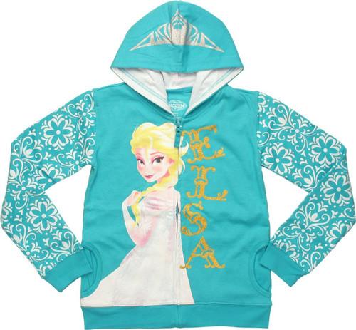Frozen Elsa Tiara Youth Hoodie
