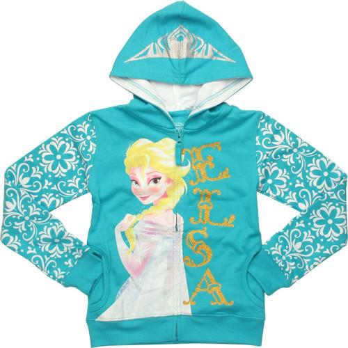 Frozen Elsa Tiara Juvenile Hoodie