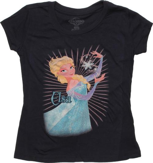 Frozen Elsa Snowflake Spell Juvenile T Shirt