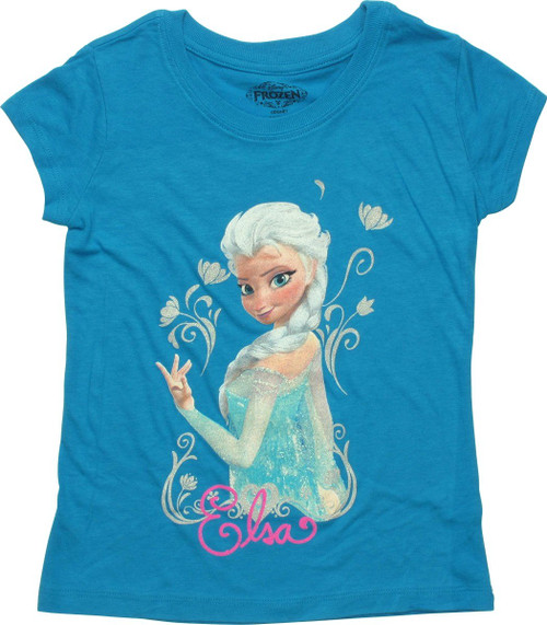 Frozen Elsa Look Back Juvenile T Shirt