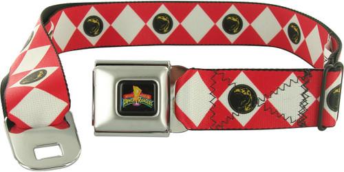 Power Rangers Red Uniform Seatbelt Mesh Belt