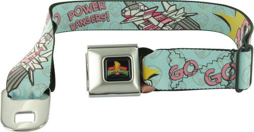 Power Rangers Go Go Pink Pterodactyl Seatbelt Mesh Belt