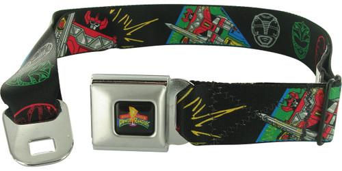 Power Rangers Megazord Helmets Seatbelt Mesh Belt