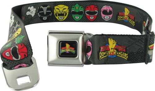 Power Rangers Helmets Charcoal Seatbelt Mesh Belt