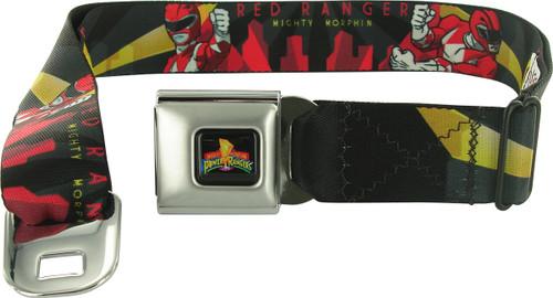 Power Rangers Red Art Deco Seatbelt Mesh Belt