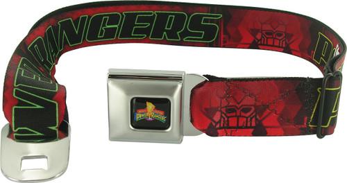 Power Rangers Outline Name Seatbelt Mesh Belt