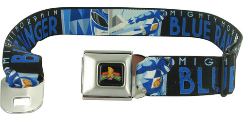 Power Rangers Blue Art Deco Seatbelt Mesh Belt