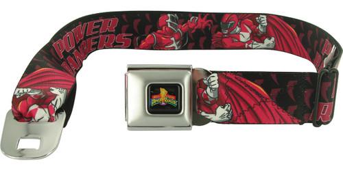 Power Rangers Zedd vs Red Seatbelt Mesh Belt