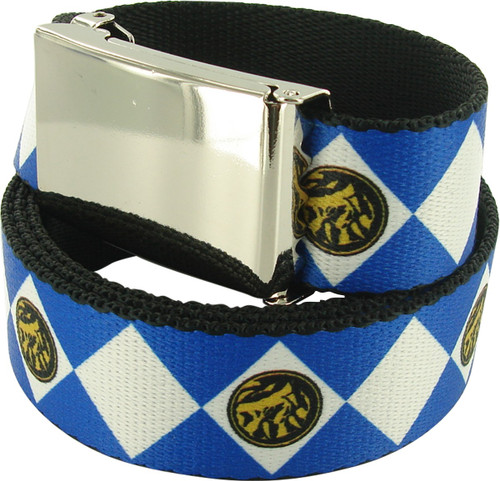 Power Rangers Blue Uniform Chrome Mesh Belt