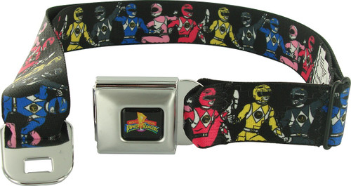 Power Rangers Ranger Line Wrap Seatbelt Mesh Belt
