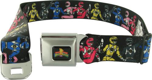 Power Rangers Ranger Line Wrap Seatbelt Mesh Belt