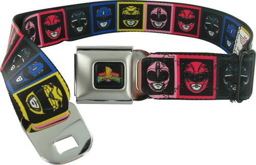 Power Rangers Boxed Helmet Wrap Seatbelt Mesh Belt