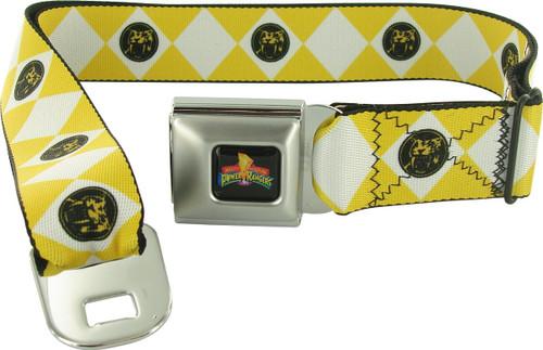 Power Rangers Yellow Uniform Seatbelt Mesh Belt