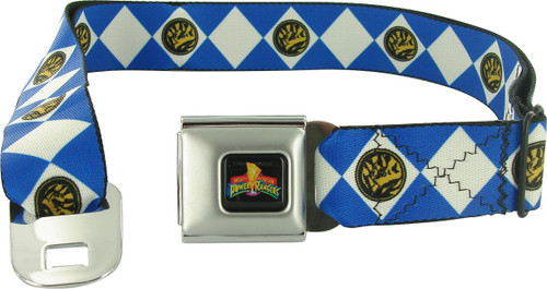 Power Rangers Blue Uniform Seatbelt Mesh Belt