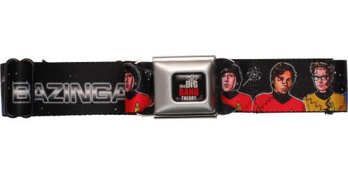 Big Bang Theory Cast Star Trek Bazinga Seatbelt Mesh Belt