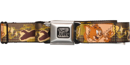 Tom and Jerry Chase Silhouette Seatbelt Mesh Belt
