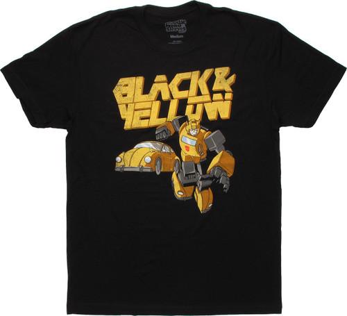 Transformers Bumblebee Black and Yellow T Shirt Sheer