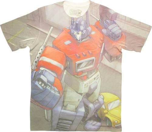Transformers Optimus Prime Sublimated T Shirt Sheer