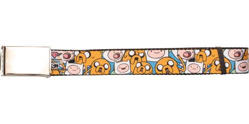 Adventure Time Finn and Jake Faces Mesh Belt