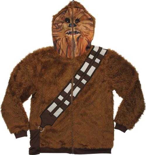 Star Wars Chewbacca Mask Zip Hoodie