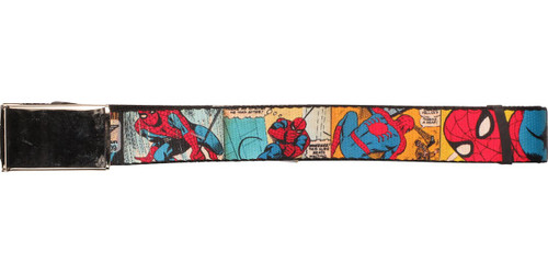Spiderman Comic Panels Mesh Belt