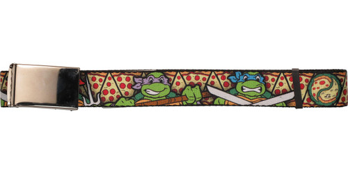 Ninja Turtles Characters Pizza Slices Mesh Belt