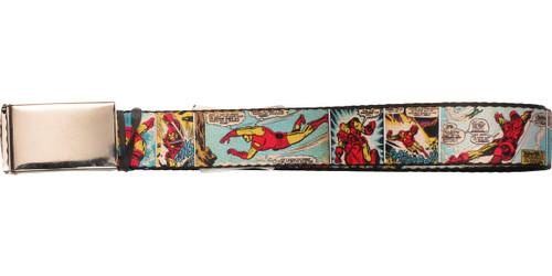 Iron Man Comic Panels Mesh Belt