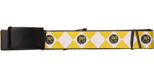 Power Rangers Yellow Uniform Wide Mesh Belt