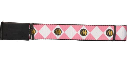Power Rangers Pink Uniform Wide Mesh Belt