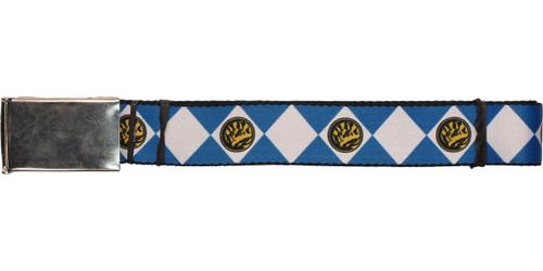 Power Rangers Blue Uniform Wide Chrome Mesh Belt
