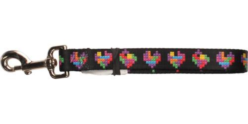 Tetris Block Hearts Pet Leash