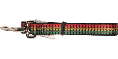 Domo Kun Red Yellow Green Stripes Pet Leash