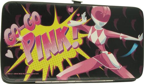 Power Rangers Go-Go Pink Black Clutch Wallet