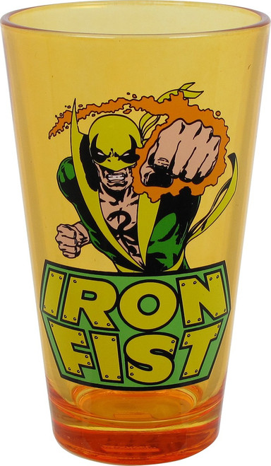 Iron Fist Flame Punch Orange Pint Glass