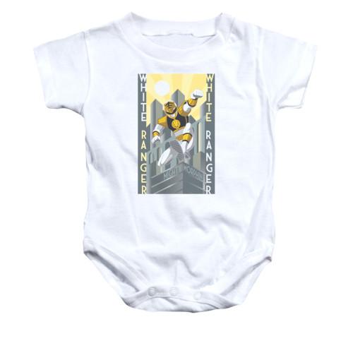Power Rangers White Ranger Deco Snap Suit