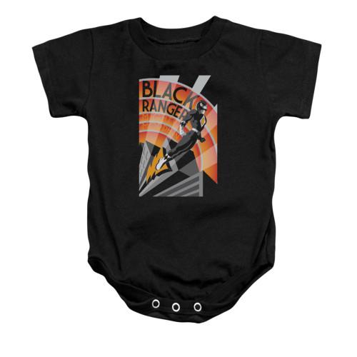 Power Rangers Black Ranger Deco Snap Suit