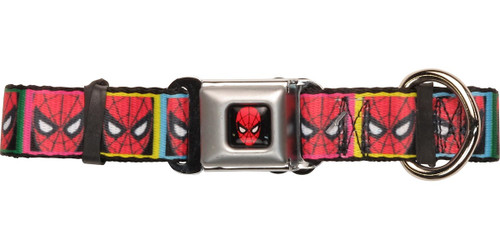Spiderman Masks Color Squares Pet Collar