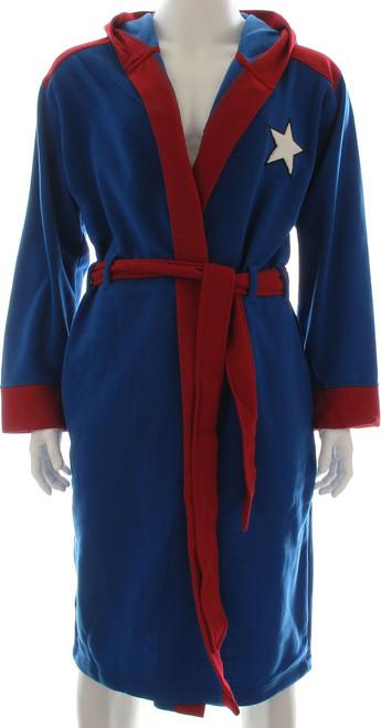 31fa0663b5 Captain America Costume Hooded Fleece Robe