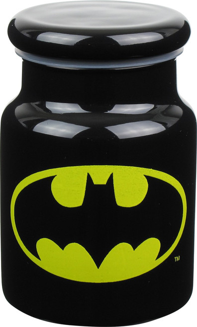 Batman Logo Glass Jar